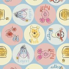 Winnie THE POOH Tessuto Fat Quarter Cotton Craft Quilting FACCE Disney