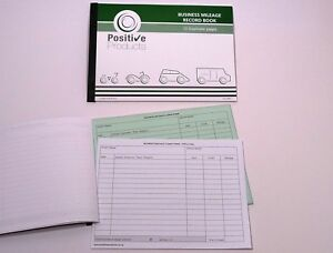 Mileage Record Book 13 Duplicate Pages HMRC Compliant Log Book Pad