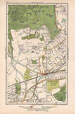1933 London Map- Wimbledon Common,Cottenham Park,Raynes Park,New Malden,West Bar