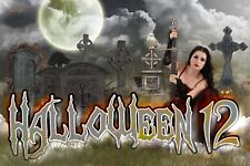 H12 Halloween Adult Digital Background Backdrop Holiday Prop Photography Holiday