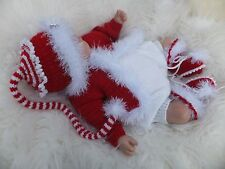 PAPER KNITTING PATTERN TO MAKE A LITTLE MAGIC CHRISTMAS BABIES BABY/REBORN DOLL