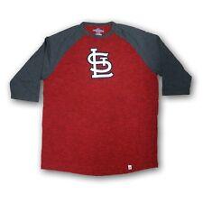 St Louis Cardinals Men's Majestic Red/Dark Gray 3/4's Sleeve T-shirt NWOT
