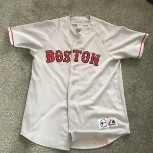 MAJESTIC BOSTON RED SOX BASEBALL JERSEY USED MEN'S SIZE M B40