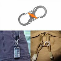 Carabiner Buckle 8 Shape Plastic Steel Key Chain Outdoor Camping Hook Clip New