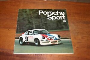 PORSCHE SPORT 73 EDITED BY JOE RUSZ  REVSON GREGG HAYWOOD CAN AM 911 914