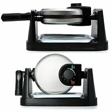 BESTCUCINA 20cm Rotating Quad Belgian Waffle Maker Iron Machine Stainless Steel
