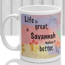 Savannah cat mug, Savannah cat gift, ideal present for cat lover