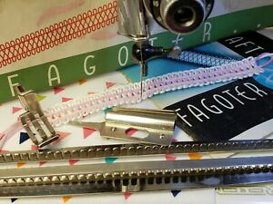 Vintage Singer Singercraft Fagoter Fashion Aid Featherweight Tested ~ Complete!
