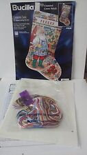 "Bucilla Cross Stitch Stocking Kit GARDENING SANTA 83686 18"" 1997 Retired"