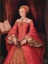 """Art Repro oil painting:""""Queen Elizabeth at canvas"""" 24x36 Inch"""