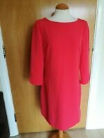 Ladies VINCE CAMUTO Dress Size 14 Coral Red Shift Smart Party Evening Day