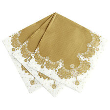 20 x Porcelain Gold Napkins - Golden Wedding 50th Anniversary Christmas Party