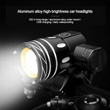 Zoom Led Mountain Bike Lights Bicycle Torch Front Head Lamp Set Usb Rechargeable