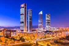 Madrid Skyline City Abends Poster Kunstdruck P1355