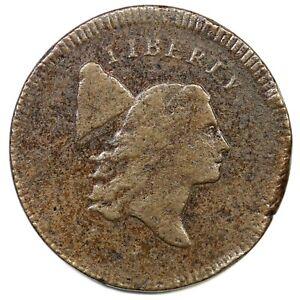 1795 C-5a R-3 Plain Edge, Thin Planchet Liberty Cap Half Cent Coin 1/2c