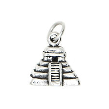 STERLING SILVER ANCIENT MAYAN PYRAMID CHARM/PENDANT