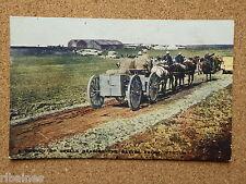 Vintage Postcard:  WW1 Convoy of Shells Nearing Battle Front Verdun France