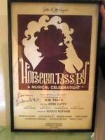 '69 Theater Poster WB Yeats HORSEMAN PASS BY Signed Larry Luckinbill COA Lucille