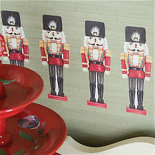 WALLIES NUTCRACKERS holiday wall stickers 12 VINYL peel and stick decals soldier