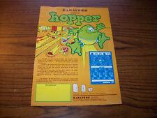 KARATECO HOPPER VIDEO ARCADE GAME FLYER BROCHURE 1982