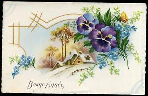 BONNE ANNEE  1958   cartes année 50  ( 14 )