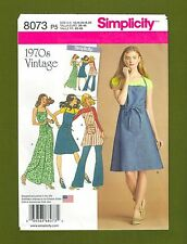 Simplicity Sewing Pattern 8073~Vintage 70's Apron Dress or Wrap (Sizes 12-20)