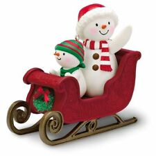 Twinkling Sleigh Ride 2016 Hallmark Ornament  Snowman Here We Come A-Wassailing