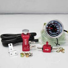 "BOOST CONTROLLER ADJUSTABLE 30PSI RED + 2"" DIGITAL LED -30/35PSI BOOST GAUGE"