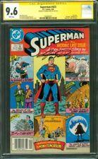 Superman 423 CGC 9.6 SS George Perez Alan Moore story Last Issue 9/1986