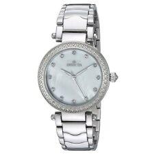 Invicta 22193 para mujer de flores silvestres Blanco Cuadrante Reloj de cristal de acero inoxidable Pulsera de Acero Ostra