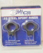 Sun Optics 30mm High Blue Steel Scope Rings .