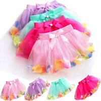 Cute Girls Kids Baby Tutu Party Ballet Dance Wear Dress Skirt Pettiskirt Costume
