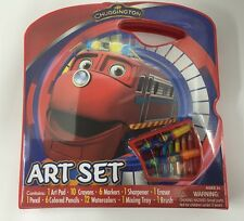 Chuggington Large Art Case Playset with Crayons Colored Pencils and More (NEW)