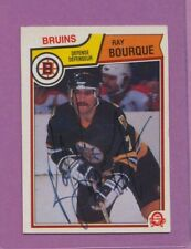 1983 OPC O-Pee-Chee Ray Bourque #45 HOF Bruins Signed AUTO Card VG