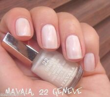 New .17oz MAVALA Nail Polish Color Pearl *GENEVE* Sheer French White Lacquer #22