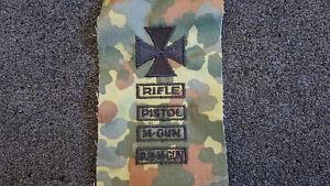 (KS-16) US Schiessabzeichen Marksman Rifle Pistol M-Gun Sub-M-Gun für BW