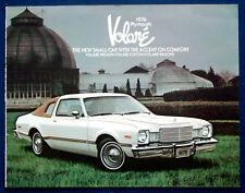 PROSPEKT BROCHURE 1976 Plymouth Volare (USA)