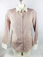 J Crew Haberdashery Women's Button Front Shirt Small Pink Long Sleeve (ML2