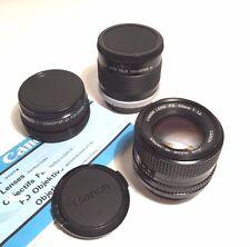 Canon Lens FD 50 mm 1:1,4 (50/1.4)/excellent état! + 2x Teleconverter