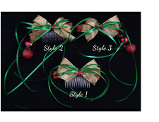 Hand Decorated Christmas Hair Side Combs (SINGLE) THREE STYLES to choose from