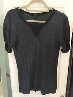 KOOPLES black and silver shimmer top, size L