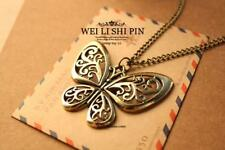 40pcs Pierced Butterfly Pendant Necklace Chain Women Lots Jewelry Free Shipping