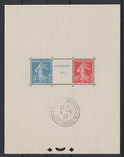 "FRANCE BLOC FEUILLET 2 a "" STRASBOURG 1927 "" NEUF AVEC CACHET EXPO SUPERBE  N900"
