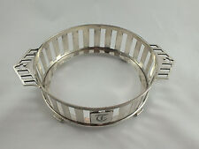 "Antique Meriden Britannia Silverplated Casserole Holder / Caddy ""T"" Monogram"