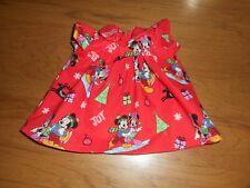 "RED  MICKEY & MINNIE CHRISTMAS DOLL DRESS - 15"" BABYDOLL"