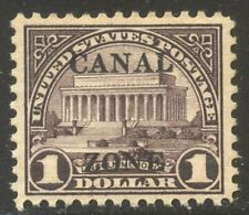 CANAL ZONE #95 Mint VF - 1928 $1.00 Violet Brown ($120)