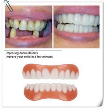 2X Smile Snap On Bottom Upper Lower False Teeth Dental Veneers Dentures Pro