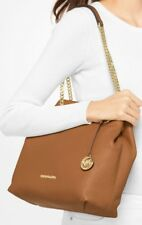 MICHAEL KORS  JETSET CHAIN LARGE CARRYALL SHOULDER TOTE BAG BROWN LEATHER