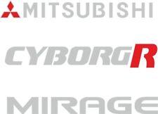Mitsubishi Mirage Cyborg R Repuesto Trasero Escotilla de arranque Calcomanías Pegatinas