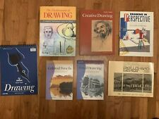 LEARN TO DRAW 6 BOOK LOT + DRAWING PAD: People/Animals/ Landscape/Still Life